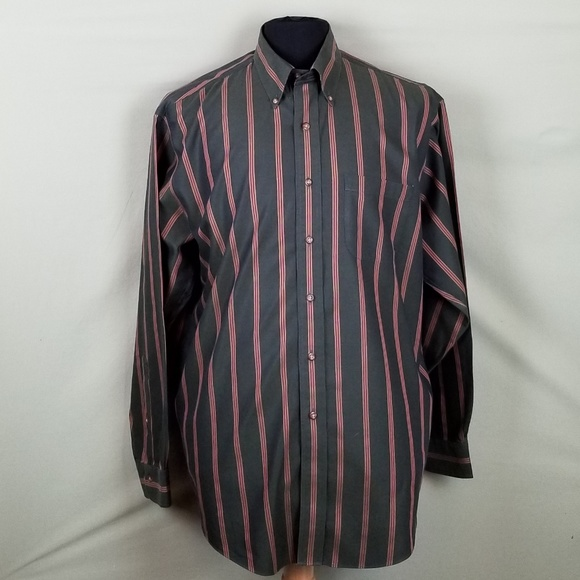 Brooks Brothers Other - Brooks Brothers '346' L Green Striped Non-Iron